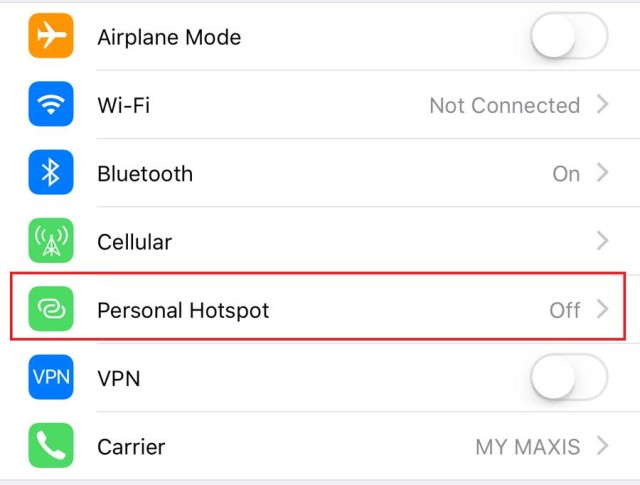 how to make your iphone a hotspot